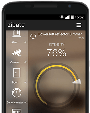 Zipato light control and dimmer