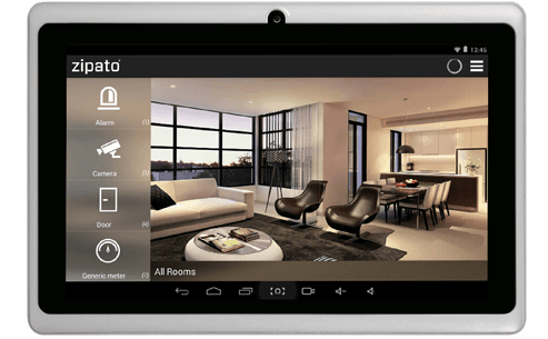 Zipato Android app tablet