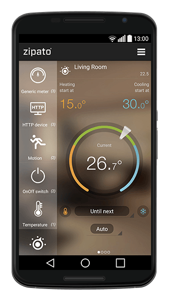 Zipato smart thermostat